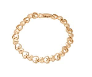 Matt Gold Heart Bracelet - summer sale