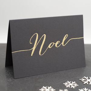 Luxury 'Noel' Hand Pressed Christmas Card - christmas cards