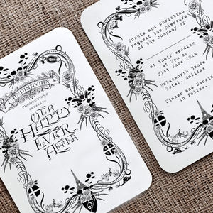 Printable Theatrical Wedding Invitation Digital File