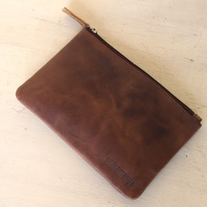 Large Leather Pencil Case - stationery & desk accessories