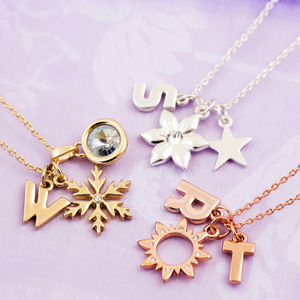 Design Your Own Chunky Letter Necklace - summer sale