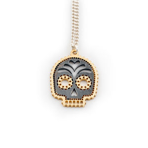 Gold Skull Calavara Necklace - necklaces & pendants
