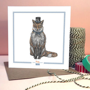 'Foxy Man' Greeting Card - wedding, engagement & anniversary cards