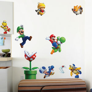 Super Mario Bros U 'Re Stick' Wall Stickers By Nintendo - home decorating