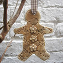 Porcelain Large Gingerbread Man Christmas Decoration