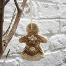 Porcelain Gingerbread Lady Christmas Decoration