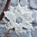 Porcelain Double Snowflake Christmas Decoration