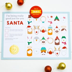 Advent Behaviour Chart With Personalised Magnet