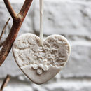 Porcelain White Heart Christmas Decoration