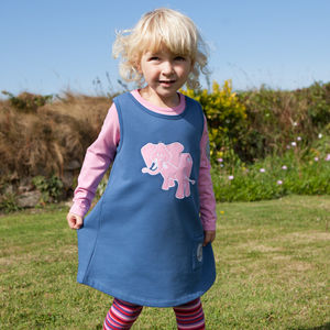 Girl's Organic Toasty Dress With Ele