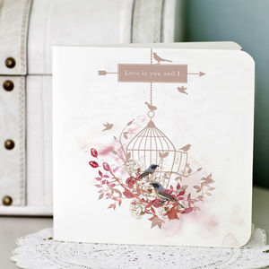 Birdcage Wedding Invitation Folded - invitations