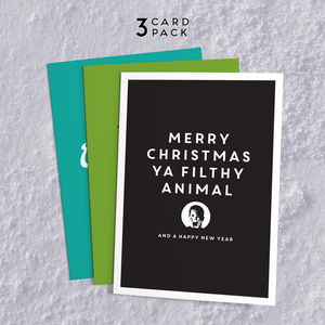 Movie Quote Christmas Card Pack - film & tv