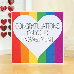 'Congratulations On Your Engagement' Card - engagement cards