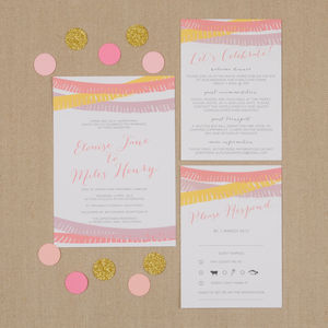 Fiesta Wedding Stationery Suite - invitations