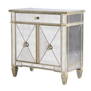 Venetian Mirrored Two Door Cabinet