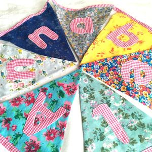 Personalised Girls Floral Bunting - children's room accessories