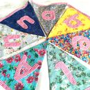 Personalised Girls Floral Bunting