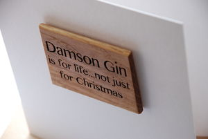 Damson Gin Is For Life…Magnet Gift Card - christmas