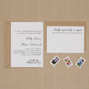 Bike For Two Wedding Invitations - order of service & programs