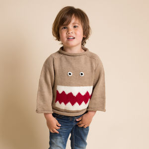 Hand Knitted Monster Jumper - baby & child sale