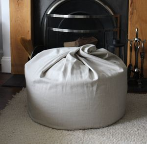 Vintage Linen Beanbag - furniture