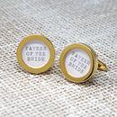 Gold Wedding Cufflinks
