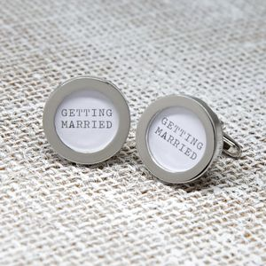 Silver Wedding Cufflinks - men's jewellery
