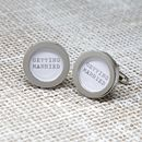 Silver Wedding Cufflinks