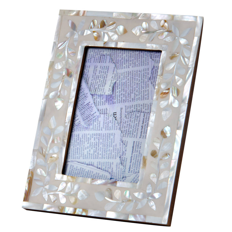 Mother Of Pearl Photo Frames By Retreat Home Notonthehighstreetcom