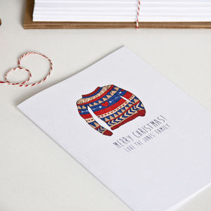 A Pack Of Personalised Christmas Cards - cards