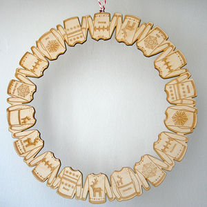 Personalised Wooden Christmas Jumper Wreath - wreaths