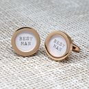 Rose Gold Wedding Cufflinks