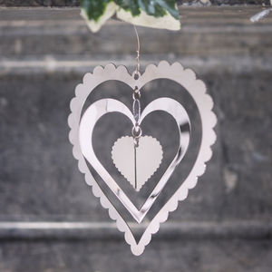 Fancy Layered Heart Decoration