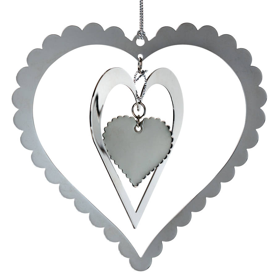 Fancy layered heart decoration by retreat home for Heart decorations home
