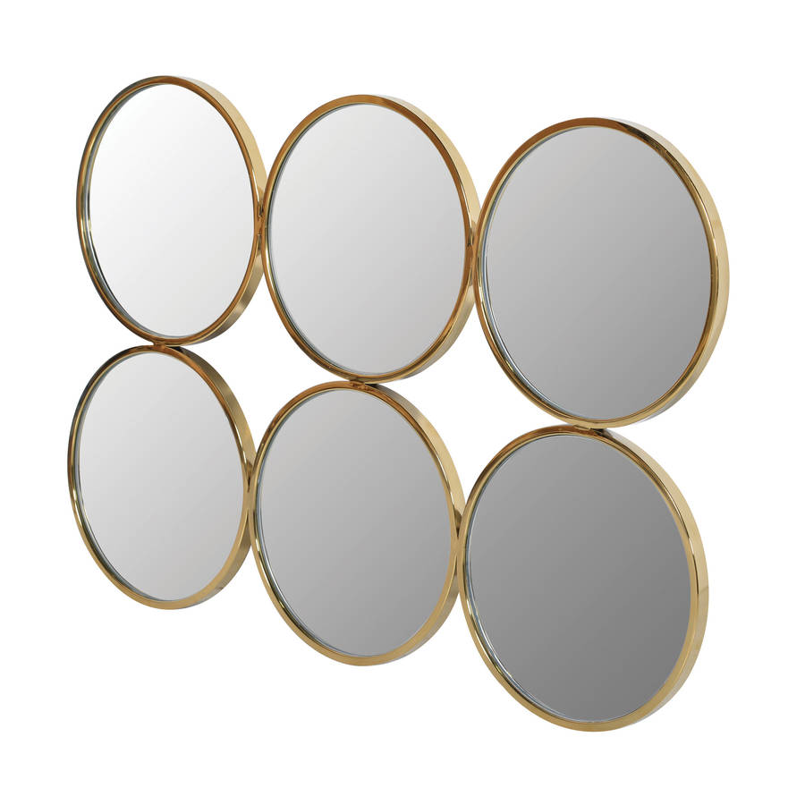 Six Circle Gold Wall Mirror By Out There Interiors Notonthehighstreet