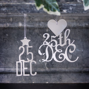 25th December Nickel Decorations