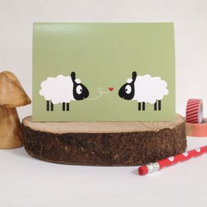Mr And Mrs Sheep Anniversary And Valentines Card - engagement cards