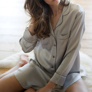 Silk Nightshirt - lingerie & nightwear