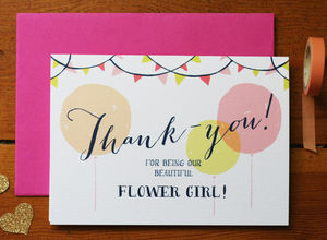 Flower Girl Thank You Card - thank you cards