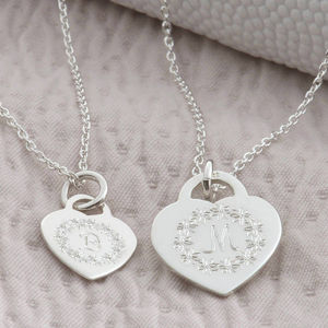 Personalised Sterling Silver Flower Circle Pendant - for children