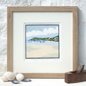 Devon Coast Art Print 'Towards Baggy Point'