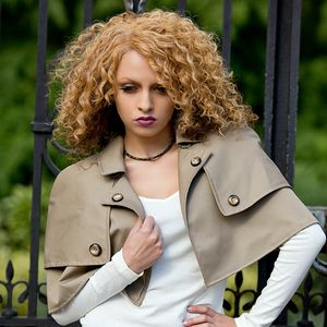 Beige Trench Sherlock Cape - coats & jackets
