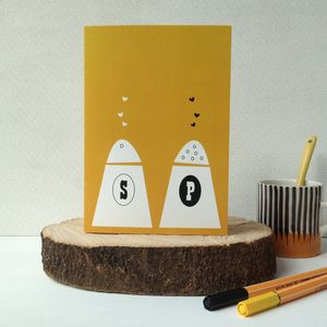 Salt And Pepper Wedding Anniversary And Valentines Card