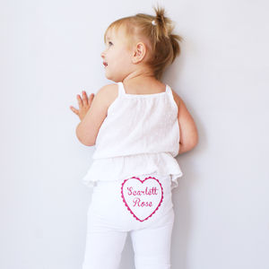 Personalised Kid's Heart Leggings