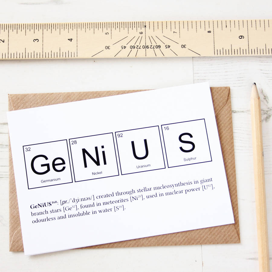 nerd or genius funny periodic table cards by newton and the apple ...