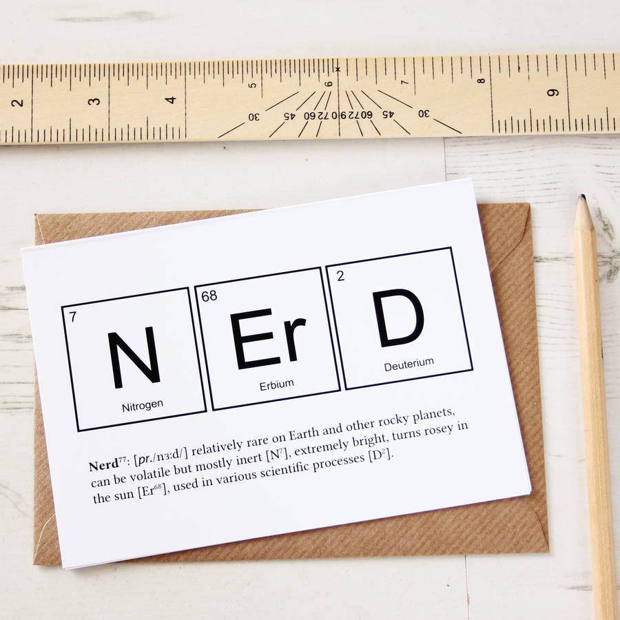 Nerd or genius funny periodic table cards by newton and for Table 6 gift card