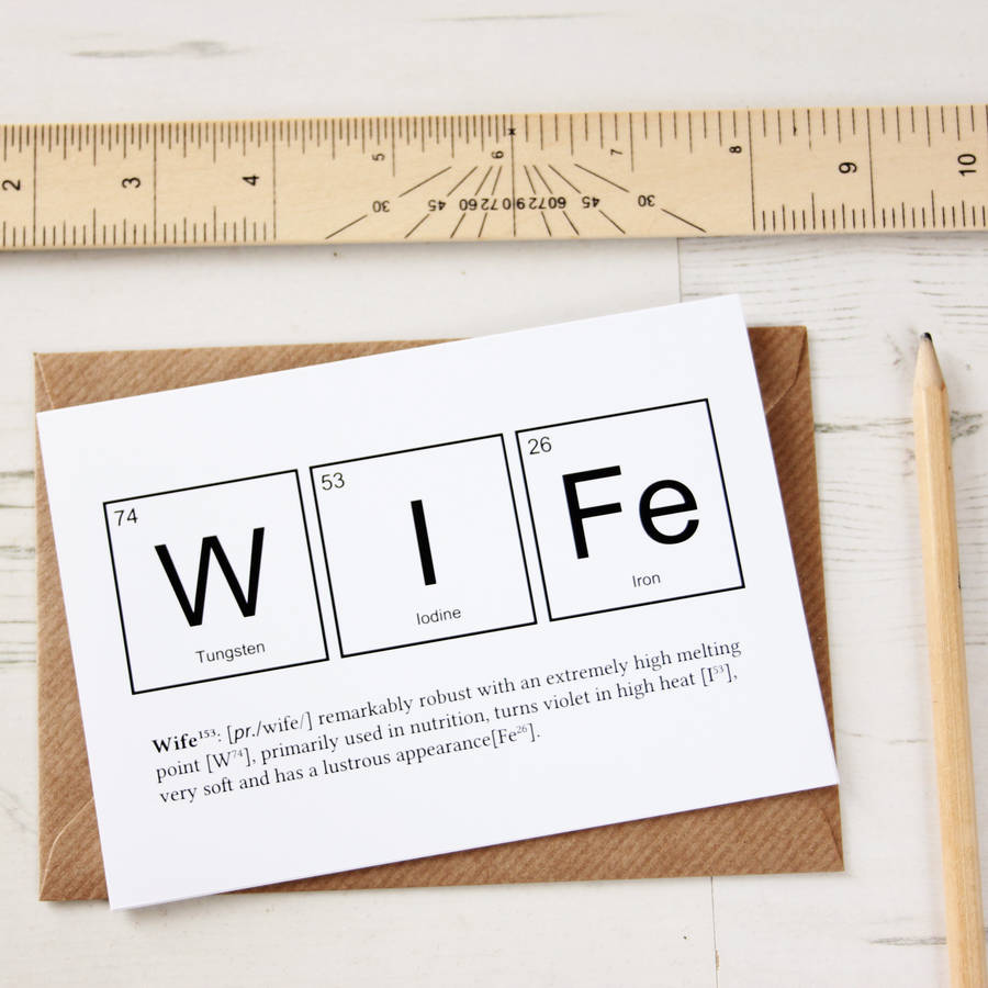 Wife Or Husband Funny Valentines Card By Newton And The Apple