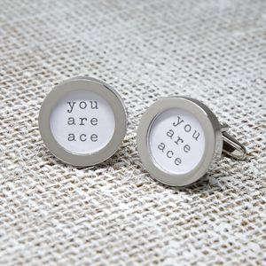 'You Are Ace' Cufflinks - men's jewellery