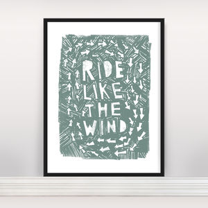 'Ride Like The Wind' Open Edition Screen Print