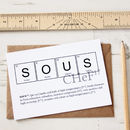 Elements Of A Chef Or Sous Chef Cards